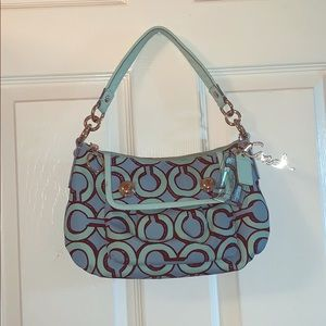 Blue Coach Logo Handbag